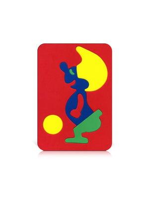 Игрушка рамка-вкладыш мозаика «Гном» | 4635138