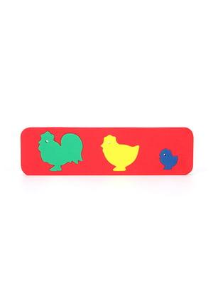Игрушка рамка-вкладыш рамка-вкладыш «Фигурки животных. Куры» | 4635140