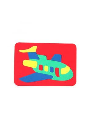 Игрушка рамка-вкладыш мозаика «Самолет» | 4635142