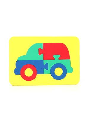 Игрушка рамка-вкладыш мозаика «Автомобиль» | 4635144