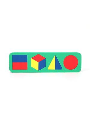 Игрушка рамка-вкладыш «Геометрические фигуры» | 4635145