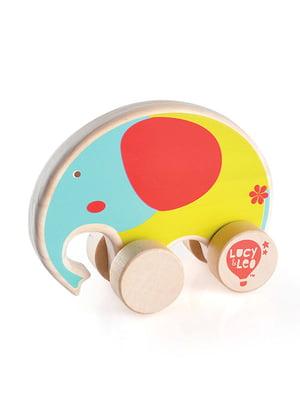 Розвивальна іграшка з дерева каталка «Слон»   4635194