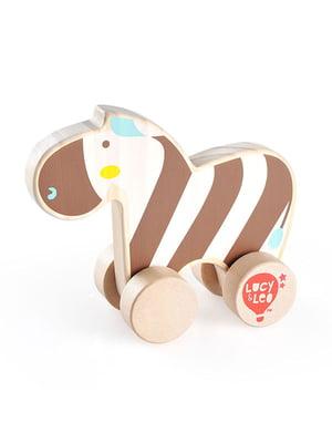 Розвивальна іграшка з дерева каталка «Зебра»   4635195