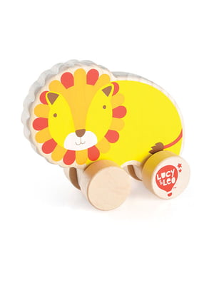 Розвивальна іграшка з дерева каталка «Лев»   4635196