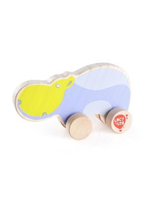 Розвивальна іграшка з дерева каталка «Бегемот»   4635199