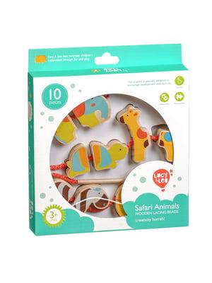 Розвивальна іграшка-шнурівка-намисто «Сафарі»   4635208