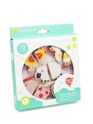 Розвивальна іграшка-шнурівка-намисто «Ферма»   4635209
