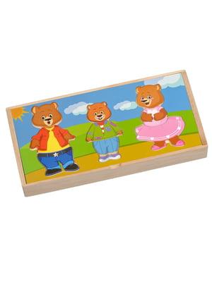 Дерев'яна іграшка «Три ведмеді» | 4635245