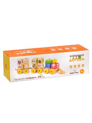 Деревянная игрушка-паровозик «Алфавит» | 4635253