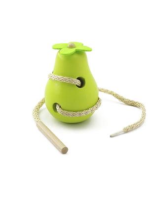 Деревянная игрушка-шнуровка «Груша» | 4635255
