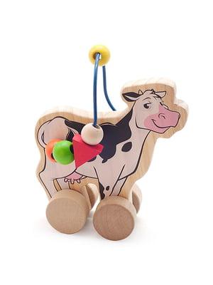 Развивающая игрушка лабиринт-каталка «Корова» | 4635270