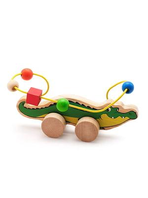 Розвивальна іграшка лабіринт-каталка «Крокодил» | 4635271