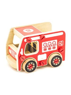 Деревянный конструктор «Пожарная машина»   4635306