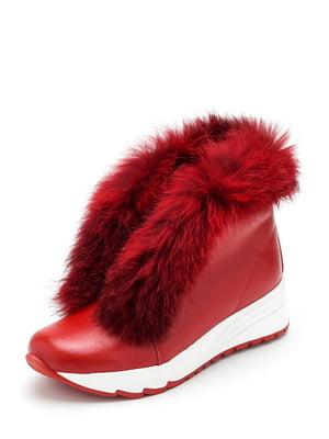 Ботинки красные | 4617490