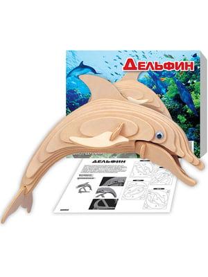 Збірна модель з дерева, 3D пазл «Дельфін (серія Ш)» | 4635128