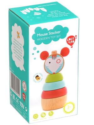 Дерев'яна іграшка-пірамідка «Мишка»   4635213