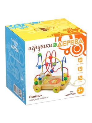 Развивающая игрушка лабиринт-каталка «Львенок» | 4635221