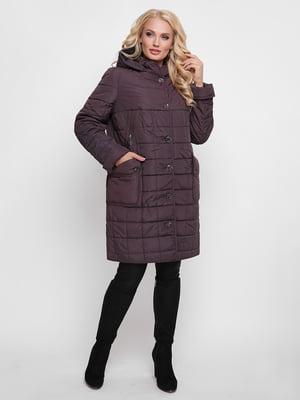 Пальто бордовое   4636026
