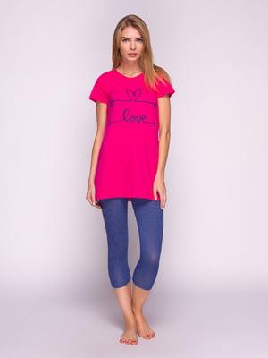 Пижама: футболка и бриджи   4628028