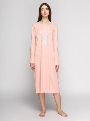 Сорочка нічна персикового кольору | 3676748
