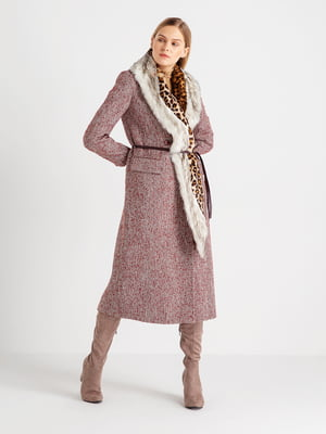 Пальто бордовое | 4642000