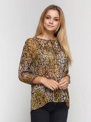 Блуза анімалістичного забарвлення | 4590560