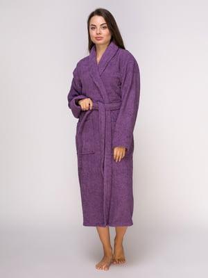 Халат фиолетовый махровый | 4635903