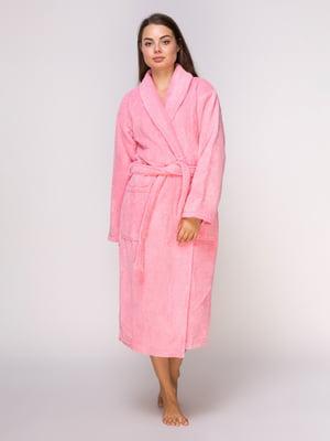 Халат розовый махровый | 4635869