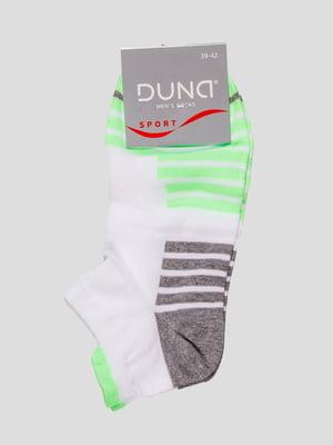 Шкарпетки біло-салатові | 4568391