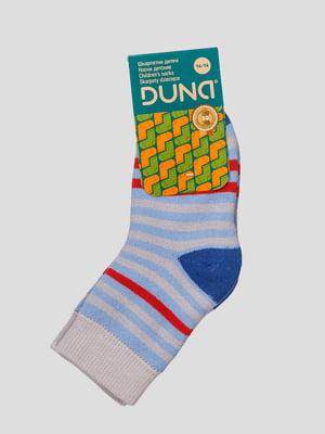 Шкарпетки блакитні махрові | 4568424