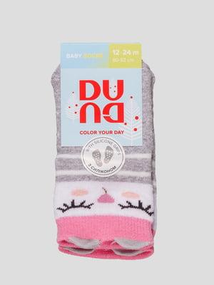 Носки светло-серые махровые | 4568427