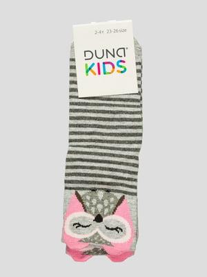 Шкарпетки світло-сірі з принтом | 4568368