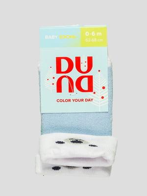 Шкарпетки блакитні махрові | 4568426