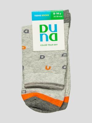 Шкарпетки світло-сірі в принт   4568362