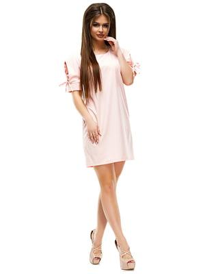 Платье цвета пудры | 4613489