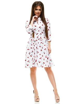Платье белое в принт | 4613714