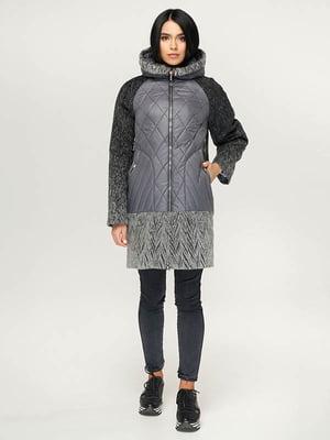 Пальто сіро-чорне | 4643443