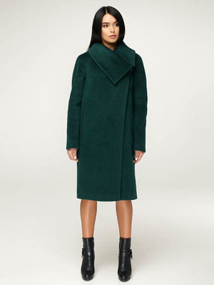 Пальто темно-зелене | 4643446