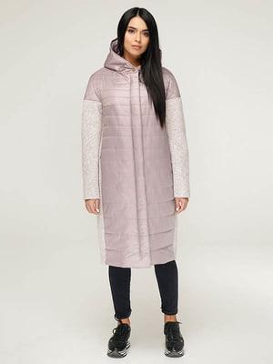 Пальто пудрово-біле | 4643498