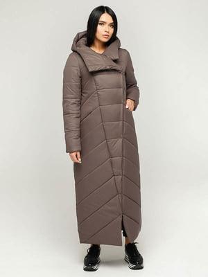 Пальто коричнево-серое | 4643503