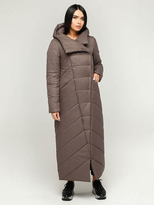 Пальто коричнево-сіре   4643503