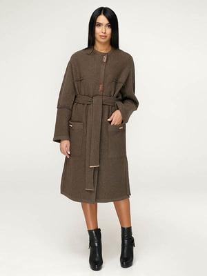 Пальто коричневое   4643511