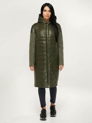 Пальто цвета хаки | 4643516