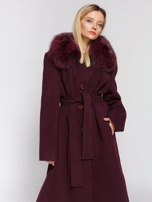 Пальто бордовое | 3407839