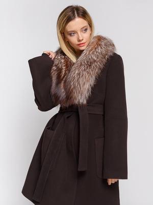 Пальто коричневое | 4643589