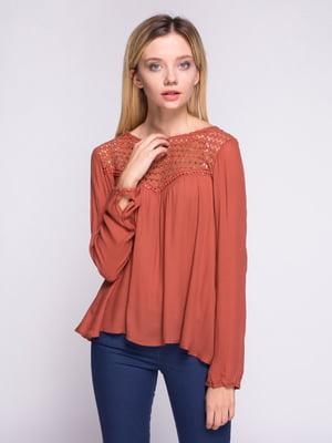 Блуза терракотовая   2333992