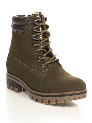 Ботинки цвета хаки | 4632222
