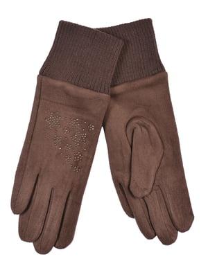 Перчатки подростковые коричневые | 4603990