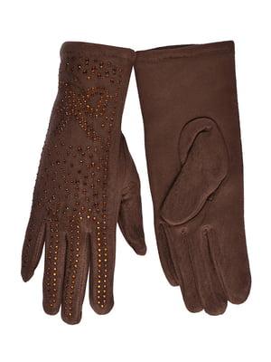 Рукавички коричневі з сенсором | 4634523