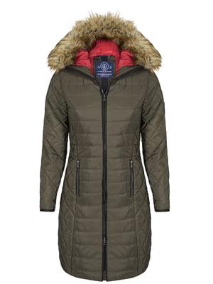 Пальто цвета хаки | 4593016
